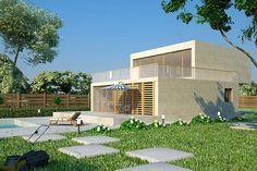 case ieftine cu etaj Cheap flat roof house plans 6