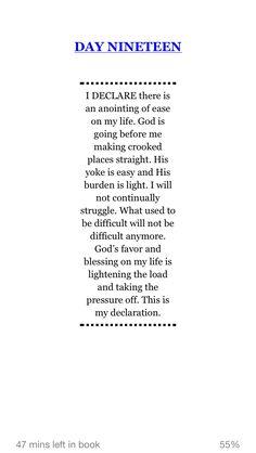 Joel Osteen's I Declare Statement
