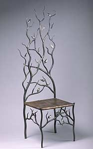 Spring's Throne: Rachel Miller: Steel & Copper Chair | Artful Home
