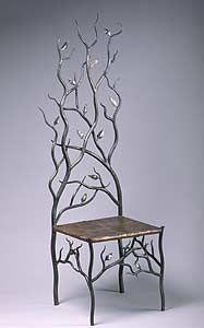 Spring's Throne: Rachel Miller: Steel & Copper Chair | Artful Home