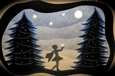 winter transparency - fairy holding star