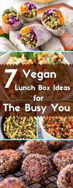 7 of my favorite, quick and easy gluten-free and vegan lunch box ideas. via /lightorangebean/