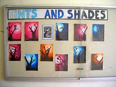 Tints and shades Moon & tree