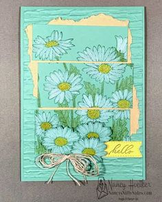 Watercolor Pencils by Stampin' Up! make it easy to create this soft and rustic card featuring the Daisy Garden stamp. #nancysniftynotes