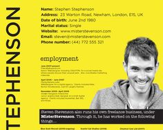 how to design an outstanding CV - mainly for web designers