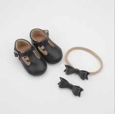 5e286eac478 Baby leather moccassins   Baby mary janes   soft soled shoes   leather baby  shoes   black baby shoes   baby moccs