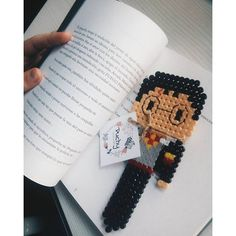 Harry Potter bookmark hama mini beads by puchyhbeads