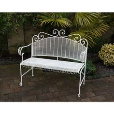 French Ornate Cream Wrought Iron Metal Garden Table and Chairs ...