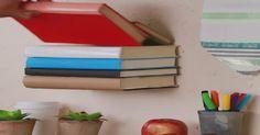 Rangez vos livres sans acheter de bibliothèque grâce à ce petit tour de magie!