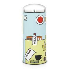 Papelera de pedal de 30 litros Retro de Brabantia, pop art