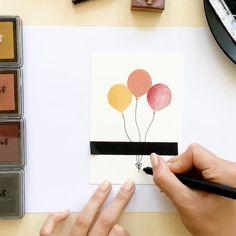 Watercolor Birthday Cards, Birthday Card Drawing, Watercolor Cards, Handmade Birthday Cards, Happy Birthday Cards, Easy Diy Birthday Cards, Birthday Gifts, Card Birthday, Mom Birthday
