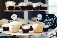 DIY cupcake toppers! Found a template online and then downloaded some cool fonts to match our theme.   Photo by Buck Deitz Photography http://www.buckdeitzphotography.com/