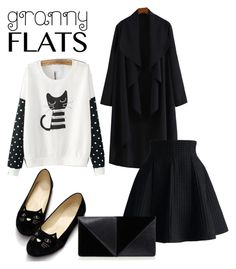 Untitled #766 by adancetovic on Polyvore featuring WithChic, Chicwish, UN United Nude and grannyflats
