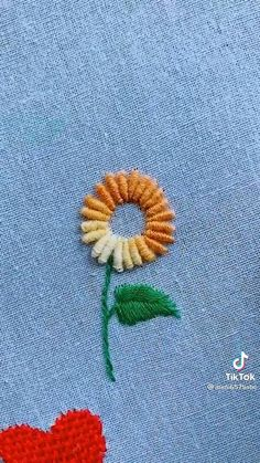 Hand Embroidery Patterns Flowers, Basic Embroidery Stitches, Hand Embroidery Videos, Embroidery Stitches Tutorial, Creative Embroidery, Learn Embroidery, Hand Embroidery Stitches, Embroidery Techniques, Simple Hand Embroidery Designs