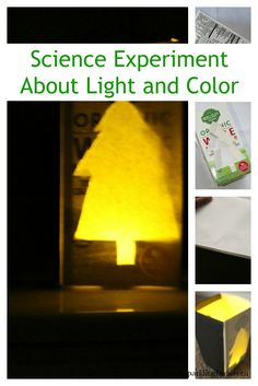A simple science experiment to learn about the relationship between light and color