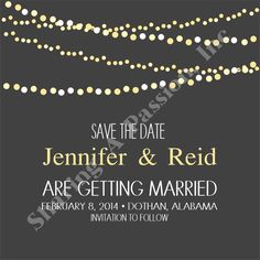 Save The Date Card - Wedding Save The Date - Save The Date Ideas - Custom Invitations - Printable Invitations - DIY Invitations