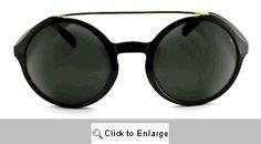 Julian Round Aviator Sunglasses - 549 Black