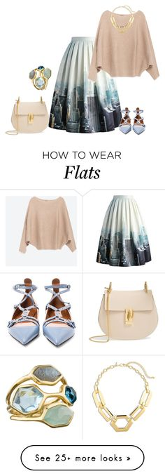 """outfit 2724"" by natalyag on Polyvore featuring Chicwish, Zara, Valentino, Chloé, Chico's and Ippolita"