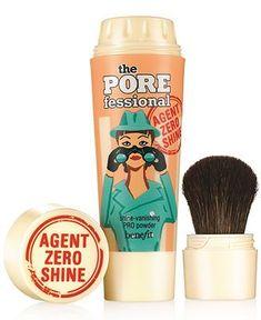 Benefit Cosmetics the POREfessional agent zero shine - shine vanishing pro powder - Makeup - Beauty - Macy's Perm, Makeup Remover, Makeup Brushes, Makeup Tools, Eyeshadow Brushes, Sephora, Beauty Makeup, Eye Makeup, Drugstore Beauty