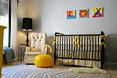 Stunning modern color combo. The yellow really pops!