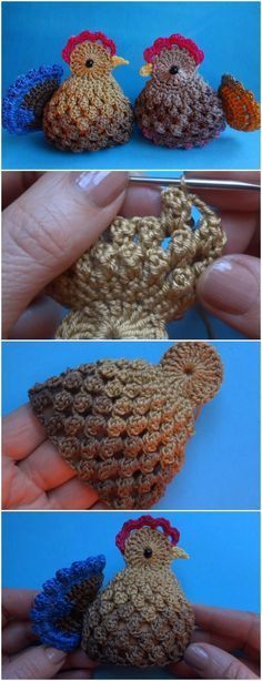 Crochet Easter Chickens Free Pattern [Video] #CrochetEaster
