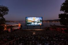 The world's most epic outdoor cinemas - Orange Cinema, Zurich Go See, To Go, Orange Cinema, City Sketch, Outdoor Cinema, Outdoor Landscaping, Event Calendar, Movie Theater, Public