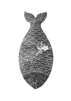 great print! #fish #scallops