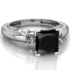 Black Onyx Art Deco ring R2001-WONYX