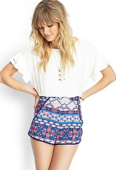 Tribal Print Dolphin Shorts | FOREVER21 #F21Contemporary