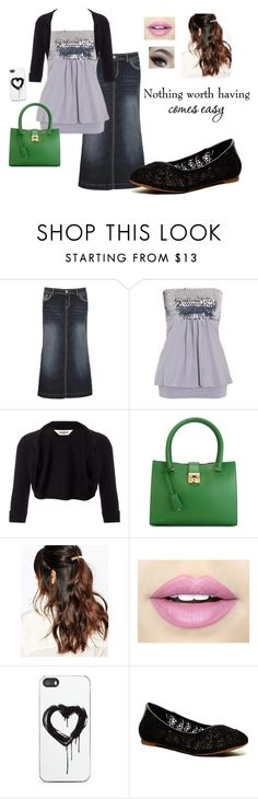 """""""Wednesday Night Service"""" by fashionforchrist ❤ liked on Polyvore featuring Hydraulic, Studio 8, Salvatore Ferragamo, Suzywan DELUXE, Fiebiger, Zero Gravity and Lucky Brand"""