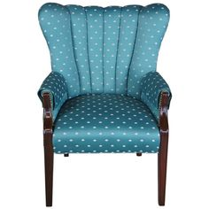 Wingback Accent Chair, Accent Chairs, Blue And Green Living Room, Art Deco Fashion, Vintage Fashion, Funky Chairs, Outdoor Chairs, Outdoor Furniture, Nailhead Trim