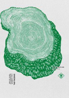 Slice of Heartland | Tree Slices Illustration Poster Design Inspiration  | Award-winning Art Direction | D&AD