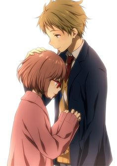 Image about anime in Beyond the Boundary/Kyoukai No Kanata by SuperSpecialAsian Anime Love Couple, Cute Anime Couples, Kawaii Anime Girl, Anime Girls, Kyoani Anime, Mirai Kuriyama, Beyond The Boundary, Tamako Love Story, Anime Couples