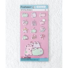 Pastel Pusheen Puffy Bubble Sticker Sheet ($5.80) ❤ liked on Polyvore featuring home, home decor, office accessories and bubble stickers