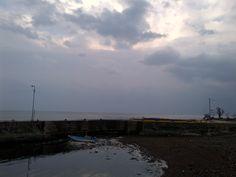 아침에 본 공천포 바다의 모습. 좋구나!