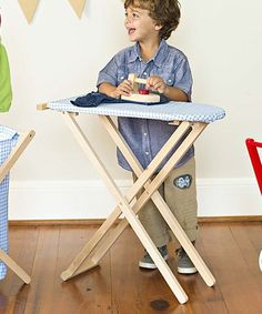 Look at this Two-Piece Ironing Set on today! Wooden Ironing Board, Imagination Toys, Iron Board, Dress Up Dolls, Childrens Gifts, Dramatic Play, Christmas Gifts For Kids, Soft Dolls, Wooden Toys