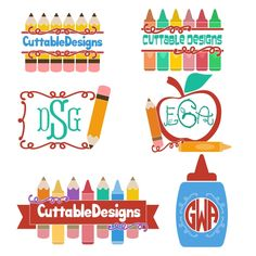 Pencil School Split Cuttable Frame Cut File. Vector, Clipart, Digital Scrapbooking Download, Available in JPEG, PDF, EPS, DXF and SVG. Works with Cricut, Design Space, Cuts A Lot, Make the Cut!, Inkscape, CorelDraw, Adobe Illustrator, Silhouette Cameo, Brother ScanNCut and other software.
