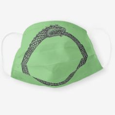 Cloth Face Mask OUROBOROS black on leaf Ancient Symbols, Snug Fit, Sensitive Skin, First Love, Masks, Future, Face, Clothes, Outfits