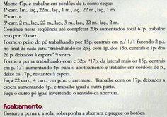 Receita de Tricô: SAPATINHO EM TRICO