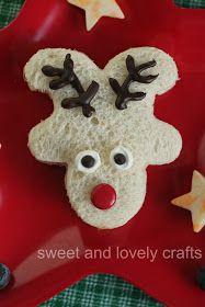 Reindeer sandwich -upside down gingerbread man