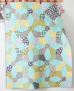 Love the colors in this baby quilt.  Time to make something for our little boy!