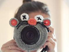 Crochet buddy. Crochet mouse. Camera buddy. Lens critter. Photographer helper. Crochet accessory. Photo Prop. Camera Lens Accessory.