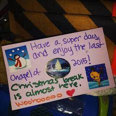 Bring on #christmasbreak woo-hoo #lunchnotes #packsunshine by justjeanae