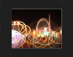 Tilted Whirls Coney Island Wonder Wheel Night by piratesofbrooklyn, $10.00