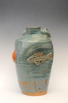 Ceramic Fish Vase  Feng Shui Pottery  Ceramic Fish by HonestWorks, $130.00