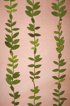 Green Felted Foliage Garland (20) | BHLDN