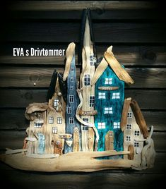 Driftwood houses or town. Love the Beach and the Fresh air ❤ Made by EVA s.