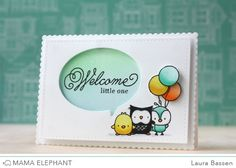 Mama Elephant~Index Card-Creative Cuts