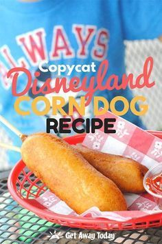 This Copycat Disneyland Corn Dog Recipe, complete with pictures and instructions, will help you create the perfect hand-dipped corn dog at home. Take a bite and imagine yourself enjoying a magical sunny day at the Disne. Disneyland Corn Dog Recipe, Best Disneyland Food, Disneyland Paris, Dog Recipes, Copycat Recipes, Cooking Recipes, Party Recipes, Corn Dog Batter, Appetizers