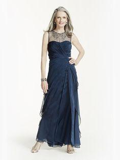 A-Line_Princess Sleeveless Jewel Floor-Length Ruffles Chiffon Mother of the Bride Dresses $463 Plus Size Mother of the Bride Dresses